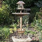 Kingfisher Hôtel Oiseaux À Énergie Solaire Effet cuivre Bronze