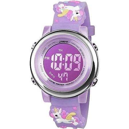 BIGMEDA Reloj Digital para Niños Niña, Luz Intermitente LED de 7 Colores Reloj de Pulsera Niña Multifunción, para Niños de 3 a 12 años