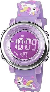 BIGMEDA Reloj Digital para Niños Niña, Luz Intermitente LED de 7 Colores Reloj de Pulsera Niña Multifunción, para Niños de...