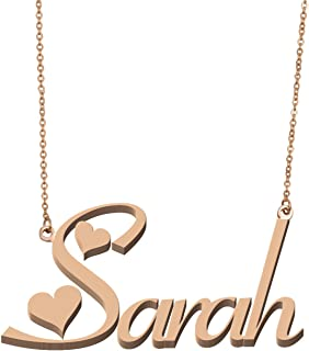 Aoloshow Women's Customized Custom Name Necklace Personalized