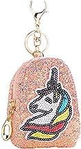 LAMEIDA Unicorn Coin Purse Keychain Unicorn Sequined Coin Purse Unicorn Sequin Keyrings Mini Wallet Backpack Bag for Bag C...