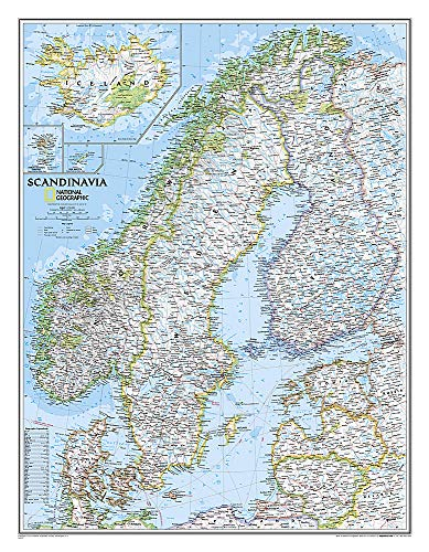 Skandinavien Landkarte classic ca 58 x 76cm