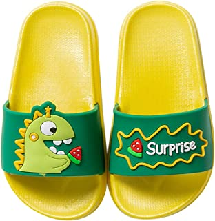 LOKIDVE Kids Dinosaur Home Shower Slide Sandal Summer Pool Indoor/&Outdoor Cartoon Slippers for Boys Girls