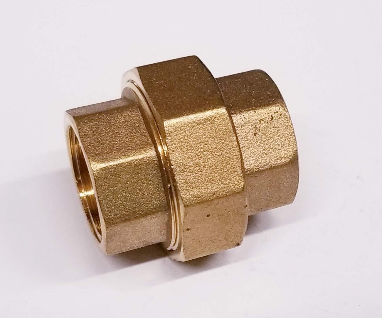 TIB Brass Split Union Coupling Pipe 1