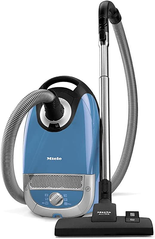 Miele Complete C2 Hard Floor Canister Vacuum Cleaner With SBD285 3 Combination Rug And Floor Tool SBB400 3 Parquet Twister XL Floor Brush Tech Blue