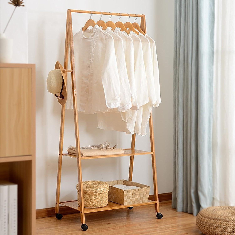 Hangers Coat Rack Floor Bedroom Drying Racks Bamboo Simple Solid Wood Living Room Clothes Rack Hangers Coat Hangers