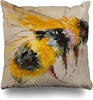 Ahawoso Decorative Throw Pillow Cover Square 16x16 Mid Moto Gift Bartender Fierce Perfect Cocktails Bumble Fan Sweet Oh Shower Glass Blonde Bee Baby Pop Cushion Case Home Decor Zippered Pillowcase