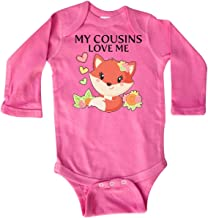 inktastic My Cousins Love Me- Little Fox Long Sleeve Creeper