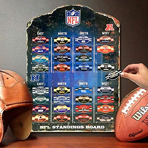 The Party Animal Magnettafel, Motiv: NFL, 34,3 x 47 cm