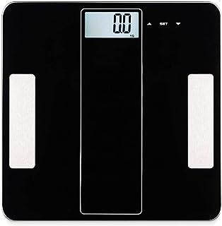 Escala de grasa corporal Escala Bluetooth Escala de medición en casa Báscula Electrónica de IMC Inteligente Báscula de peso corporal de grasa corporal Báscula de baño Negro