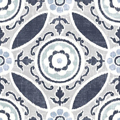 WallPops FP2484 Sienna Peel & Stick - Azulejos para suelo (10 unidades)