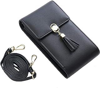 Handy Umhängetasche Damen Handy Schultertasche Kleine Tasche Frauen Brieftasche Cross-Body PU Leder Shoulder Bag mit Karte...