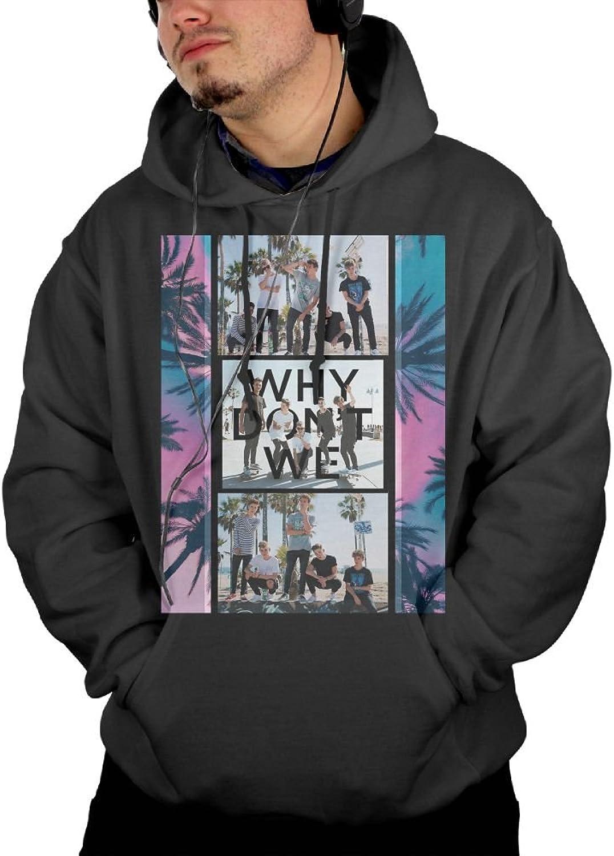 Katie P. Hunt Why Don't We Men's Hoodies Hooded Sweatshirt with Pocket Hoodie Black