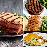 Bacon-wrapped Pork Chops + Top Sirloin + Chicken Breast Complete Meal from Kansas City Steaks