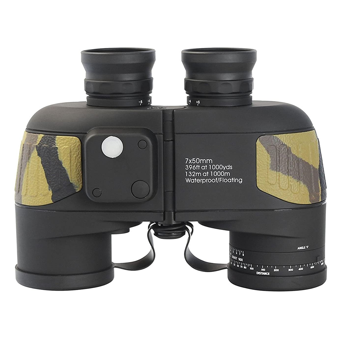 SHIJIAN Marine Binoculars with 7X Magnification and 50mm Objective Lens, 24 Mm Eye Relief, 6.8mm Exit Pupil, and Field of View is 396 Feet at 1000 Yards /132 Meters at 1000 Meters (Color : Yellow)