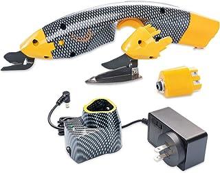 Loboo Idea Ciseaux électriques électriques sans fil, outil de couture de coupe avec deux têtes de coupe pour papier tissu ...