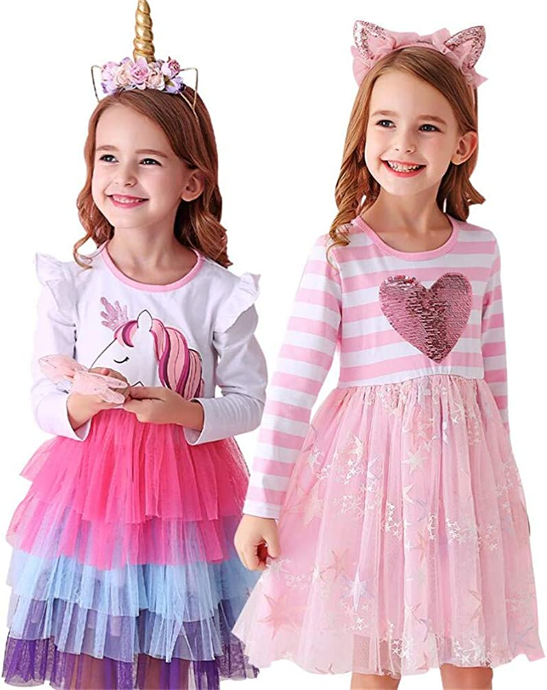 VIKITA Casual Girls Dresses 2pcs LH4590+LH4884 8T