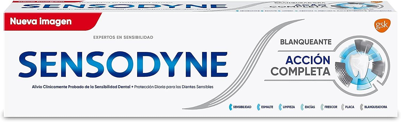 Sensodyne Multi Protection Pasta de Dientes Blanqueante, Alivio para Dientes Sensibles, Protección Duradera frente a la Sensibilidad Dental, 75 ml