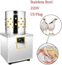 Chicken Plucker Plucking Machine Stainless Steel Poultry Plucker Poultry De-Feather Plucking Machine Duck Quail Birds Depilator Poultry Feather Plucking Hair Remover Tool 220V 180W (US Stock)
