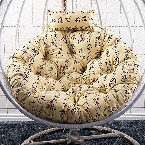 Hangende hangstoel kussens, zonder standaard ronde schommelstoel kussen dikke nest opknoping stoel terug met kussen r D105cm Kleur: G, Maat : D105cm(41inch)