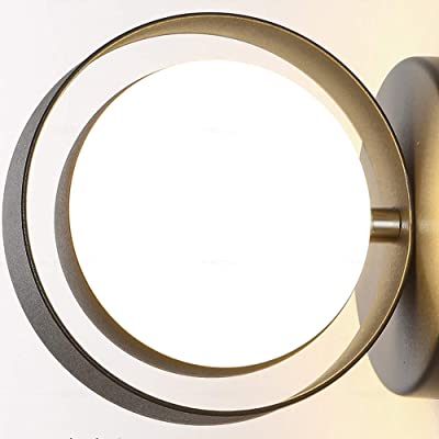 Applique murale Nordic Simplicity LED Up Down Wall Wash Lights Applique murale en acrylique Globe Shade 6W 3000K Blanc chaud ou 6000K Applique murale intérieure pour salle de bain Vanity Mirror La