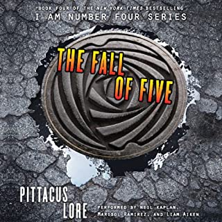 The Fall of Five     Lorien Legacies, Book 4              Auteur(s):                                                                                                                                 Pittacus Lore                               Narrateur(s):                                                                                                                                 Neil Kaplan,                                                                                        Marisol Ramirez,                                                                                        Liam Aiken                      Durée: 9 h et 6 min     6 évaluations     Au global 4,7