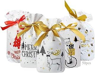 Bolsas Regalo Navidad Liuer 120PCS Bolsas de Golosinas de Navidad para Fiestas,Bolsas Regalo Cumplea/ños,Forma de Conejo Bolsa de Caramero Bolsas de Dulces de Navidad para Navidad,Boda,Cumplea/ños