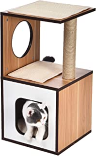 AmazonBasics Wooden Cat Furniture with Scratching Posts