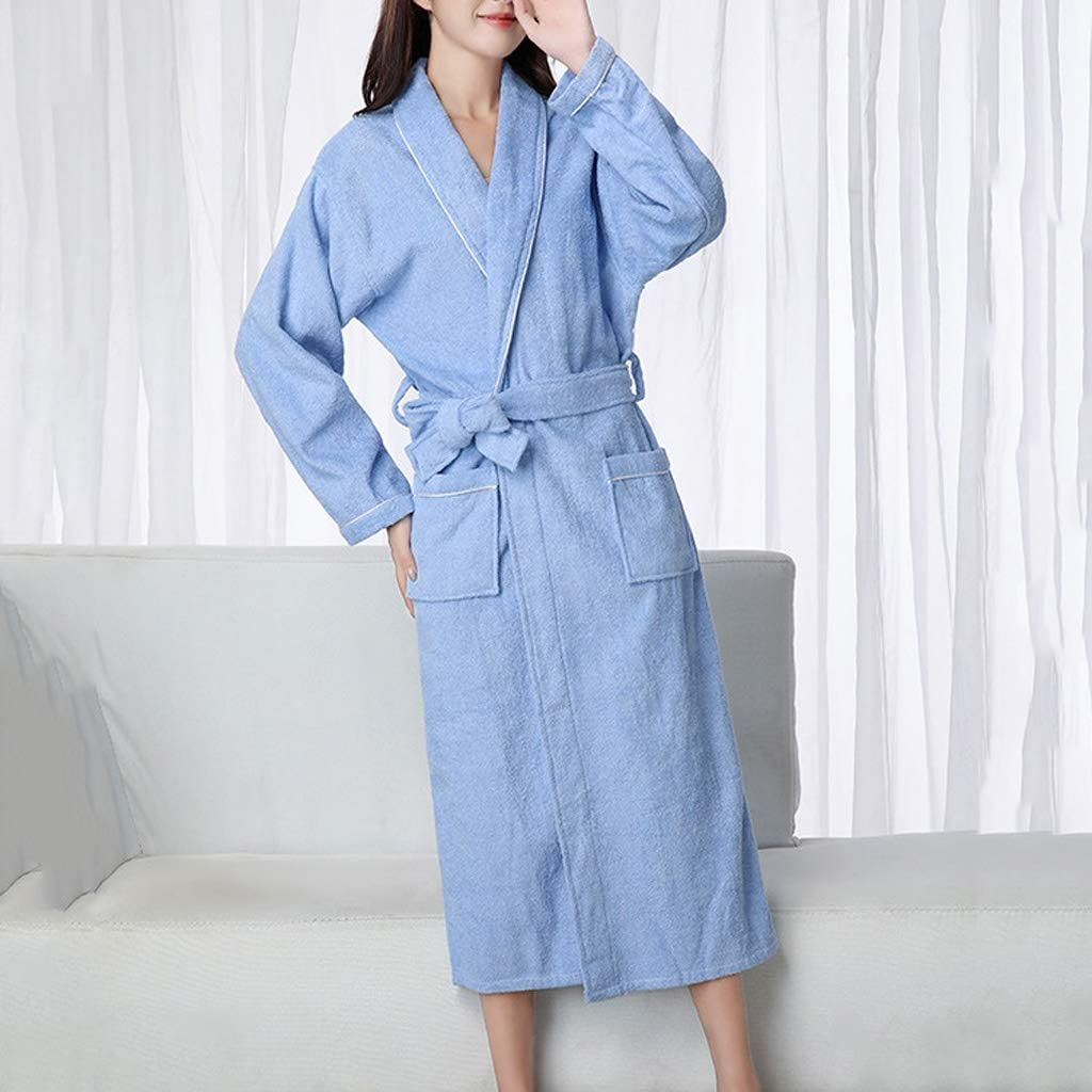 XJJZS Cotton Toweling Terry Extra Long Robe Lovers Soft Bath Robe Men and Women Male Casual Home Bathrobe (Color : C, Size : XX-Large)