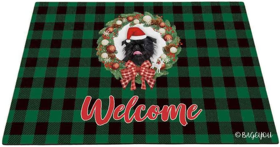 BAGEYOU Merry Baltimore Mall Christmas with My Beloved Colour 5 ☆ very popular Black Brussel Dog
