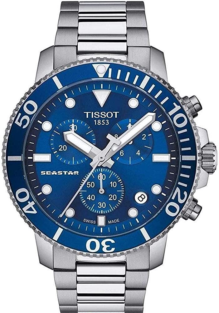 Amazon.com: Tissot mens Seastar 660/1000 Stainless Steel Casual Watch Grey  T1204171104100 : Clothing, Shoes & Jewelry