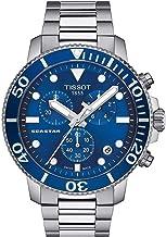 Tissot mens Seastar 660/1000 Stainless Steel Casual Watch Grey T1204171104100