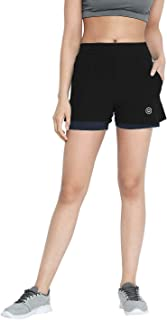 CHKOKKO Women Running Shorts
