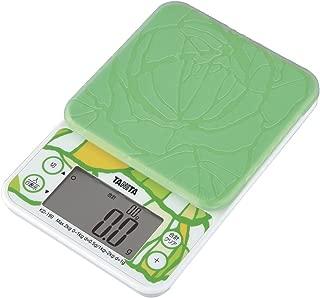 タニタ はかり スケール 料理 2kg 0.5g グリーン KD-199 GR 野菜の目標量・使用量 がわかる