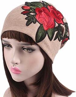 Fabal Women Embroidery Cancer Chemo Hat Beanie Scarf Turban Head Wrap Cap