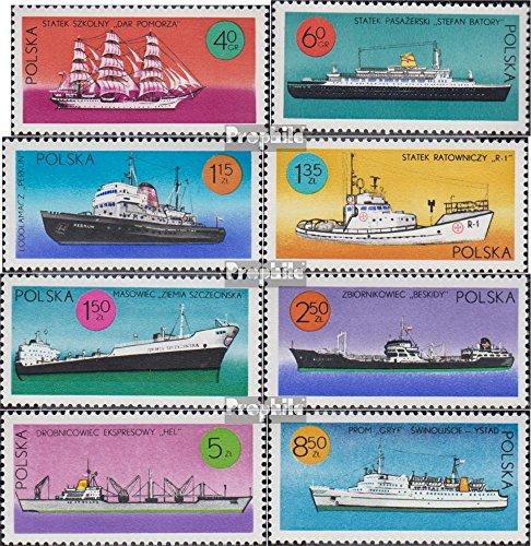 Prophila Collection Polen 2050-2057 (kompl.Ausg.) 1971 Schiffe unter polnischer Flagge (Briefmarken für Sammler) Seefahrt