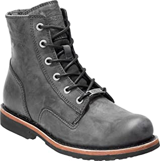 Men's Burdon 6-In Grey or Brown Lace-Up Motorcycle Boots...