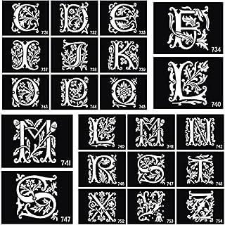 26 plantillas de tatuaje de aerógrafo con letras inglesas para pintar el cuerpo con purpurina y