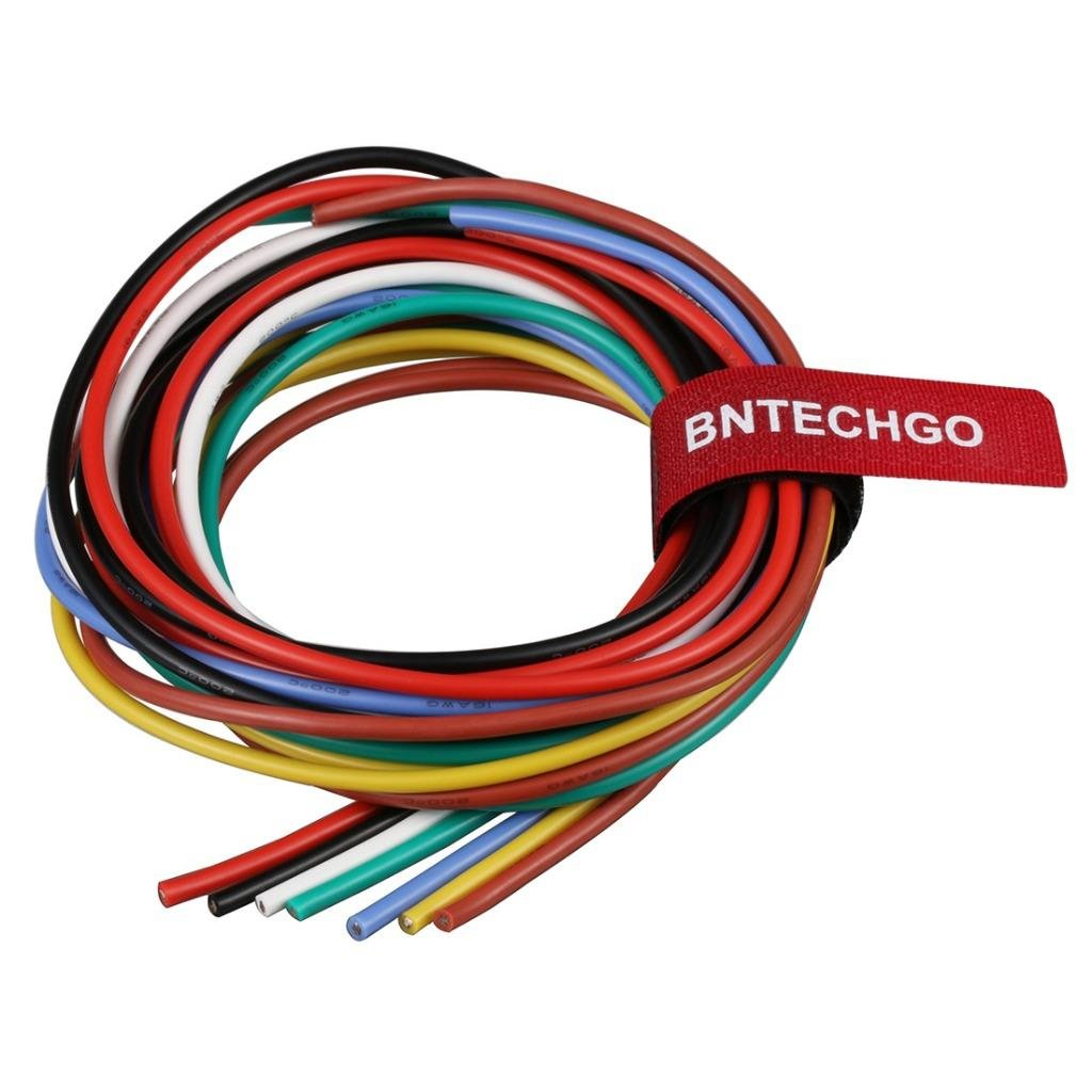 Bntechgo 16 Gauge Silicone Wire Kit 7 Color Each 3 Ft Flexible 16 Awg Stranded Tinned Copper Wire Amazon Com