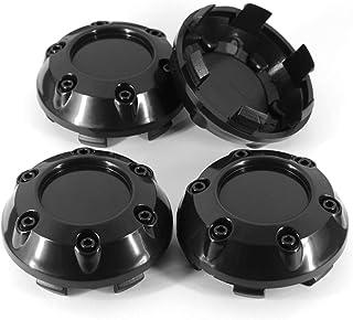 Wielnaafdoppen naafkappen wielen 4 stks/partij 68mm 62mm Auto Wiel Center Cap Hub Cover Zwart Chrome (Color : Black)