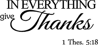 Epic Designs In everything give thanks. Thessalonians Scripture religious wall quotes arts sayings Bible verse vinyl decals