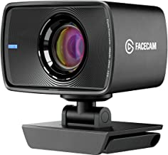 Elgato Facecam - True 1080p60 Full HD Webcam for Video Conferencing, Gaming, Streaming, Sony Sensor, Fixed-Focus Glass Len...