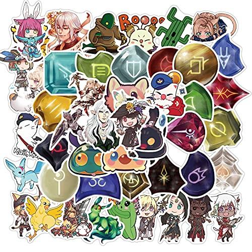 estéticas 10 / 50pcs Final Fantasy Pegatinas Lindo Fresco de Dibujos Animados Animal Pegatinas Divertidas para Juguetes para niños Scrapbook Toys Decoración del Juego Pegatina (Color : Random 10PCS)