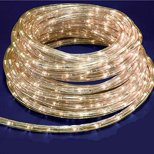 Tubo Luminoso a LED per Natale luci natalizie per Esterno e Interno impermeabile 30 metri 720 led luce BIANCO CALDO con controller