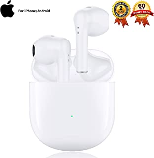 $42 » Wireless Earbuds Bluetooth 5.0 Earbuds Noise Cancelling Wireless Headphones 24H Cycle Playtime Hi-Fi APT-X CVC8.0 IPX5 Waterproof Earphones, in-Ear Headset for iPhone Android Apple Airpods (White)