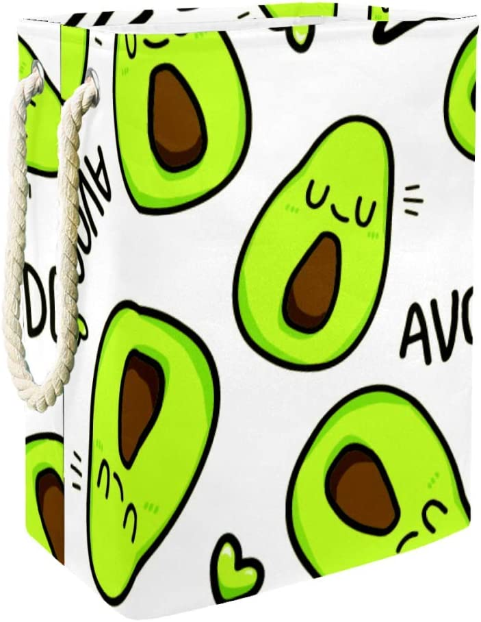 All items free shipping Clearance SALE! Limited time! Inhomer Avocado Pattern 300D Oxford PVC Waterproof Clothes Hampe