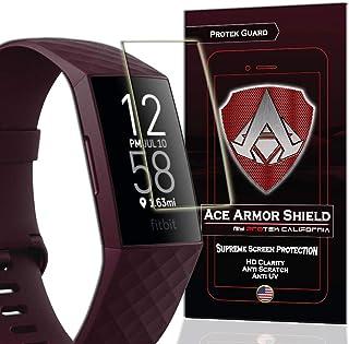 واقي شاشة Ace Armorshield (8 عبوات) Premium HD مقاوم للماء متوافق مع Fitbit Charge 3 / Charge 3 SE