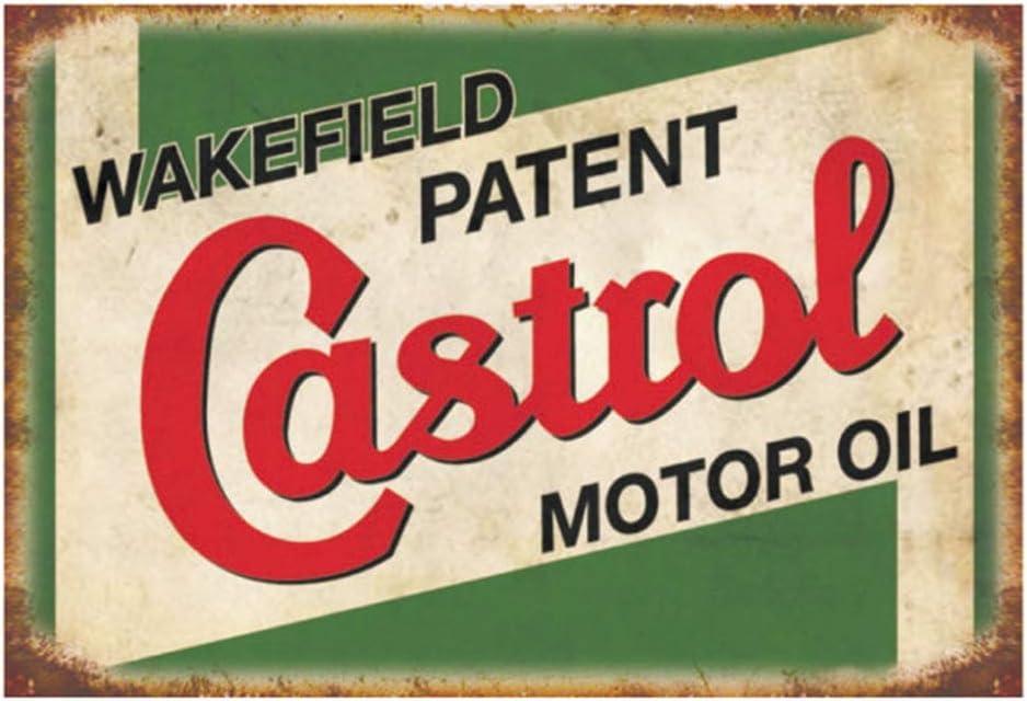 Retro  CASTROL GARAGE metal sign 28cm x 19cm Classic Car Vespa Lambretta