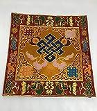 Tibetan Endless Knot silk brocade table cover/altar cloth/shrine Cloth/cover/placemat