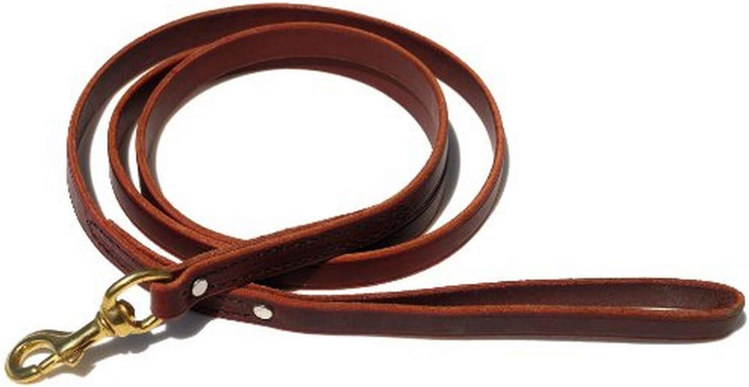 Signature K9 Standard Leather Leash, 6-Feet x 3/4-Inch, Burgundy : Pet Leashes : Pet Supplies